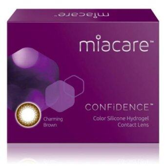 Harga Miacare CONFIDENCE Monthly Charming Brown Color Contact Lens (-3.00)