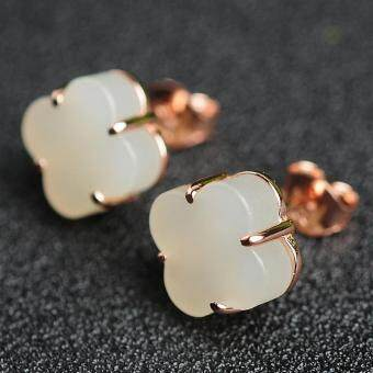 Harga Genuine Natural Jade and Jade Earrings High-grade Jade Jewelry Lucky Female Jade Earrings with Certificate
