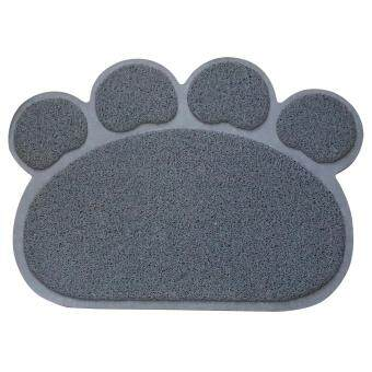 Harga Pethouzz Cat Claw Shape Cat Litter Mat/Toilet mat (L-Grey)
