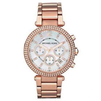 Harga Michael Kors MK5491 Parker Chronograph Rose Gold Women's Watch