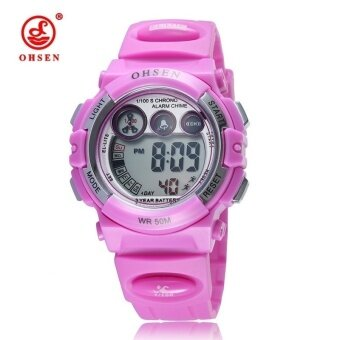 Harga OHSEN 1509 Wristwatch For Kids Sport Digital Watches Pink
