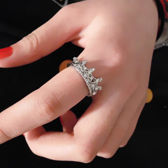 Harga Hanyu Flowers Crown Female Ring Queen Ring