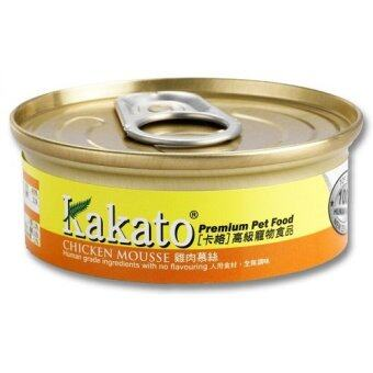 Harga 24 cans Kakato Cat & Dog Canned Food Chicken Mousse (40g)