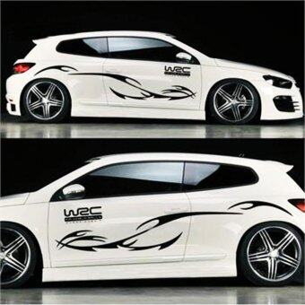 Harga Car styling KK engine hood car sticker car body decals stripes for Focus Cruze Black