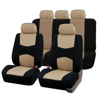 Harga GOOD Front Rear Universal Car Seat Covers Auto Car Seat Covers Vehicles Accessories beige