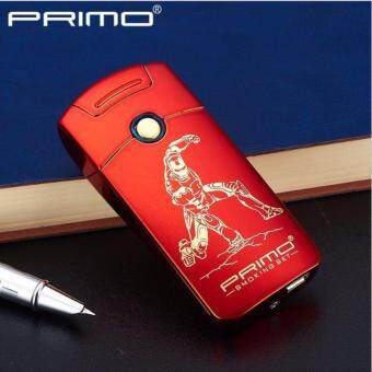 Harga Primo USB Rechargeable Windproof Tesla Arc Lighter (Iron Man)