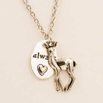"Harga Rorychen Movie Accessories Retro Harry Potter ""Always"" Letter Necklace Deer Pendant Necklace Gifts"