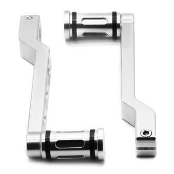 Harga CNC Deep Edge Cut Heel/Toe Shift Lever & Shifter Peg for Harley Touring Softail Glide in Chrome