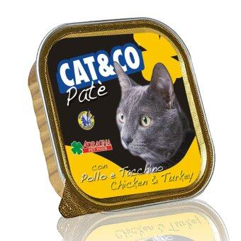 Harga Adragna Cat & Co Pate Chicken & Turkey 32 Cans X 100GM