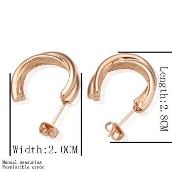 Harga Pair Of Rose Gold Contracted Personality Earrings