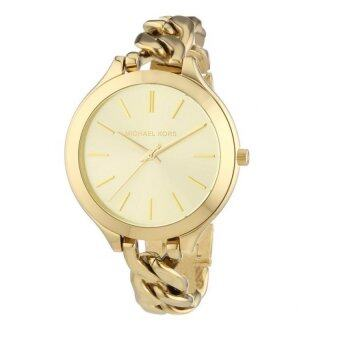 Harga Michael Kors Women's Runway MK3222 Goldtone Stainless Steel Quartz Watch