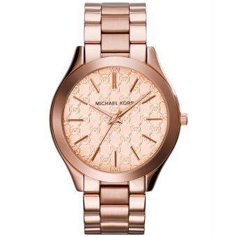 Harga Michael Kors Women's Slim Runway Rose Gold-tone Watch MK3336
