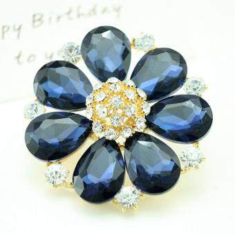 Harga Fashion Jewelry Fancy Rhinestone Bling Crystal Flower Brooch Pin