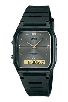 Harga Casio Men Ana-Digi Grey Dial Resin Strap Watch AW-48HE-8AVDF