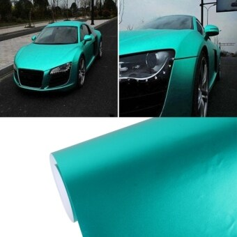 Harga 1.52m × 0.5m Ice Blue Metallic Matte Icy Ice Car Decal Wrap Auto Wrapping Vehicle Sticker Motorcycle Sheet Tint Vinyl Air Bubble Free(Tiffany Blue)