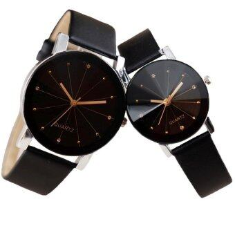 Harga SoKaNo Trendz C01 Fashion Couple Watch- Black