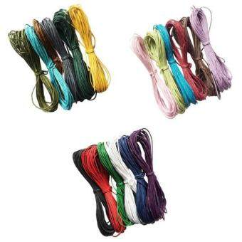 Harga MagiDeal 18pcs of 10 meters Waxed Cotton Cords for DIY Bracelet Jewelry Making Assorted Colors