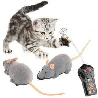 Harga Electric RC Mouse Remote Control Mouse Vivid Small Fake Animal Trick Toy Electric Animal Fun Toys Joke Toys Birthday Gift