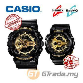 Harga CASIO G-SHOCK BABY-G GA-110GB-1A & BA-110-1A Couple Watch