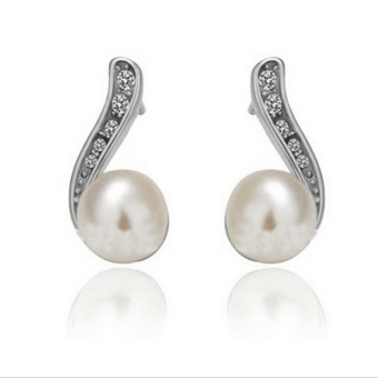 Harga ONLY 925 Silver Pearl Earrings