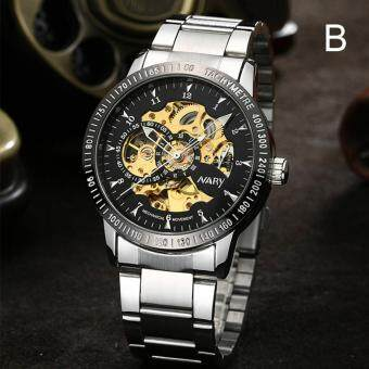 Harga NARY Brand Luxury Sports Men's Automatic Skeleton Mechanical Military Wrist watch