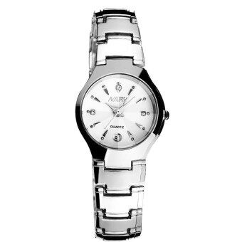 Harga New Arrival NARY 6112 Single Calendar Couple's Quartz Watch(white)