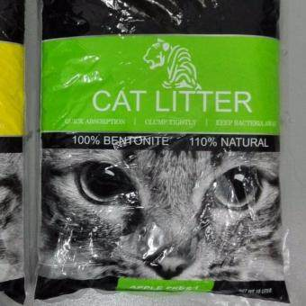 Harga TIGER Natural Bentonite Cat Litter 10L ( APPLE ) x2