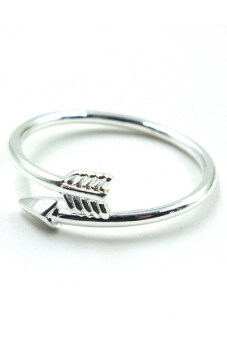 Harga Buytra Women Rings Adjustable Arrow Open Silver