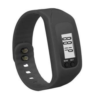 Harga Coconie Digital LCD Pedometer Run Step Walking Distance Calorie Counter Watch Bracelet Black