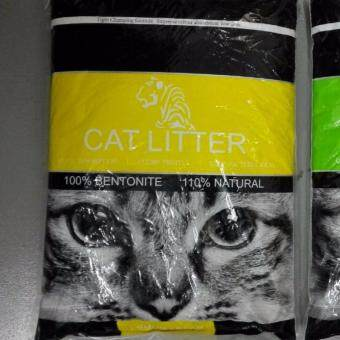 Harga TIGER Natural Bentonite Cat Litter 10L ( Lemon )