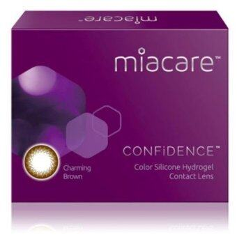 Harga Miacare CONFIDENCE Monthly Charming Brown Color Contact Lens (-4.25)