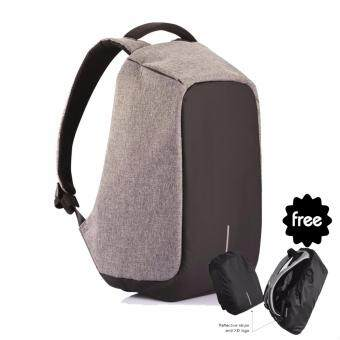 Harga XD Design Anti-Theft Bobby Backpack - Grey(BOBBY) & FREE Raincover