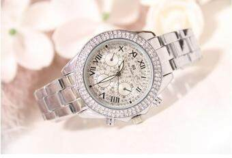 Harga Ladies Luxury Fashion steel Watches woman Watch Sparkling Shining Large Dial Watch