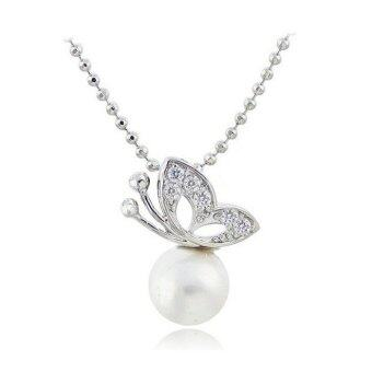 Harga ONLY Elegant Butterfly Design Pearl Necklace