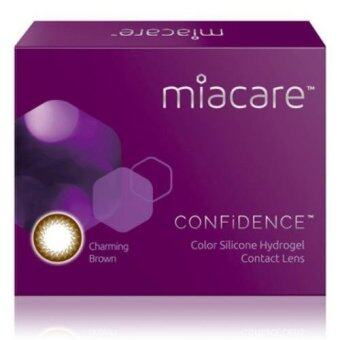 Harga Miacare CONFIDENCE Monthly Charming Brown Color Contact Lens (-2.75)