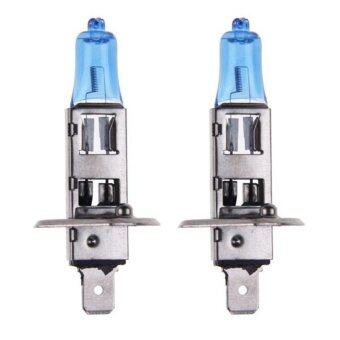 Harga 2x H1 6000K 12V 55W Super White Headlight Xenon Halogen Car Driving HOD Xenon Bulb Lamp Light Headlight Halogen
