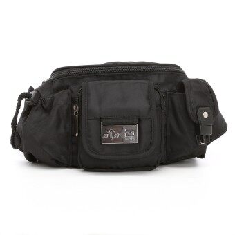 Harga Black Hammer Stylish Waist Pouch (Black)