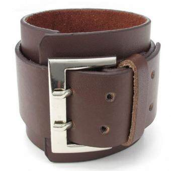 Harga Street Hip-Hop Leather Double-Breasted Bracelet