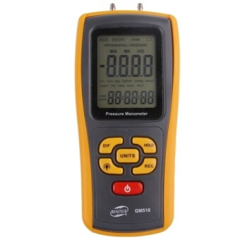 Harga BENETECH GM510 LCD Display Pressure Manometer(Yellow)