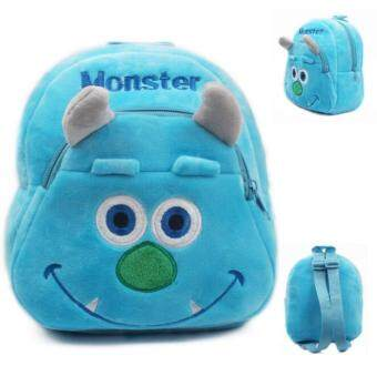 Harga 2016 Blue Monster baby bag plush shool bags kids backpack lovely design mini bags for child Best Christmas gift