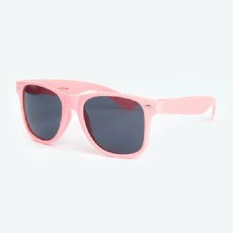 Harga Sunglasses Uv400 Vintage Mens Womens Unisex Eye Wear Pink Frame&Black Lens