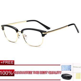Harga JIEYUHAN Men Eyeglass Frame Glasses Retro Spectacles Clear Lens Eyewear