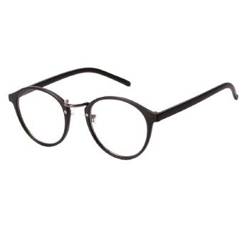 Harga Fashion Mens Womens Nerd Glasses Clear Lens Eyewear Unisex Retro Eyeglasses Spectacles Eyewear Frame 4Colors