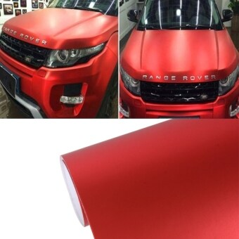 Harga 1.52m × 0.5m Ice Blue Metallic Matte Icy Ice Car Decal Wrap Auto Wrapping Vehicle Sticker Motorcycle Sheet Tint Vinyl Air Bubble Free(Red)