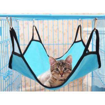 Harga Pets Bed Pet Hammock For Cat Kitten Rabbit Sleep Bed (Light Blue)