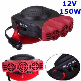 Harga 12V 2 in 1 Auto Car VAN Heater Hot Cool Fan Windscreen Window Demister Defroster