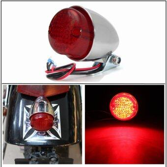 Harga Motorcycle LED Brake Stop Running Tail Light Cafe Racer Bobber Cruiser Chopper (Chrome)
