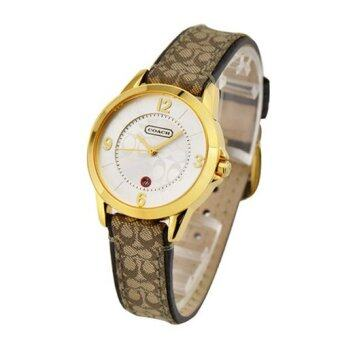 Harga Classic Coach style Leather Strap Watch (brown)