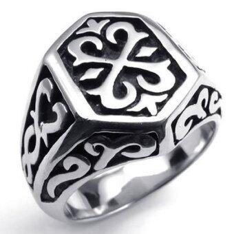 Harga Stainless Steel Thors Hammer Mens Ring Color Black Silver