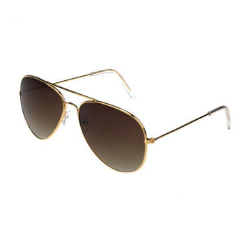 Harga Men and Women Classic Aviator Metal Designer Sunglasses Ted Tea